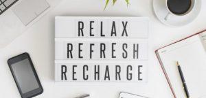 rest, refresh, relax, sleep